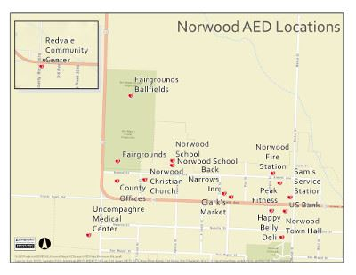 AED Map Norwood