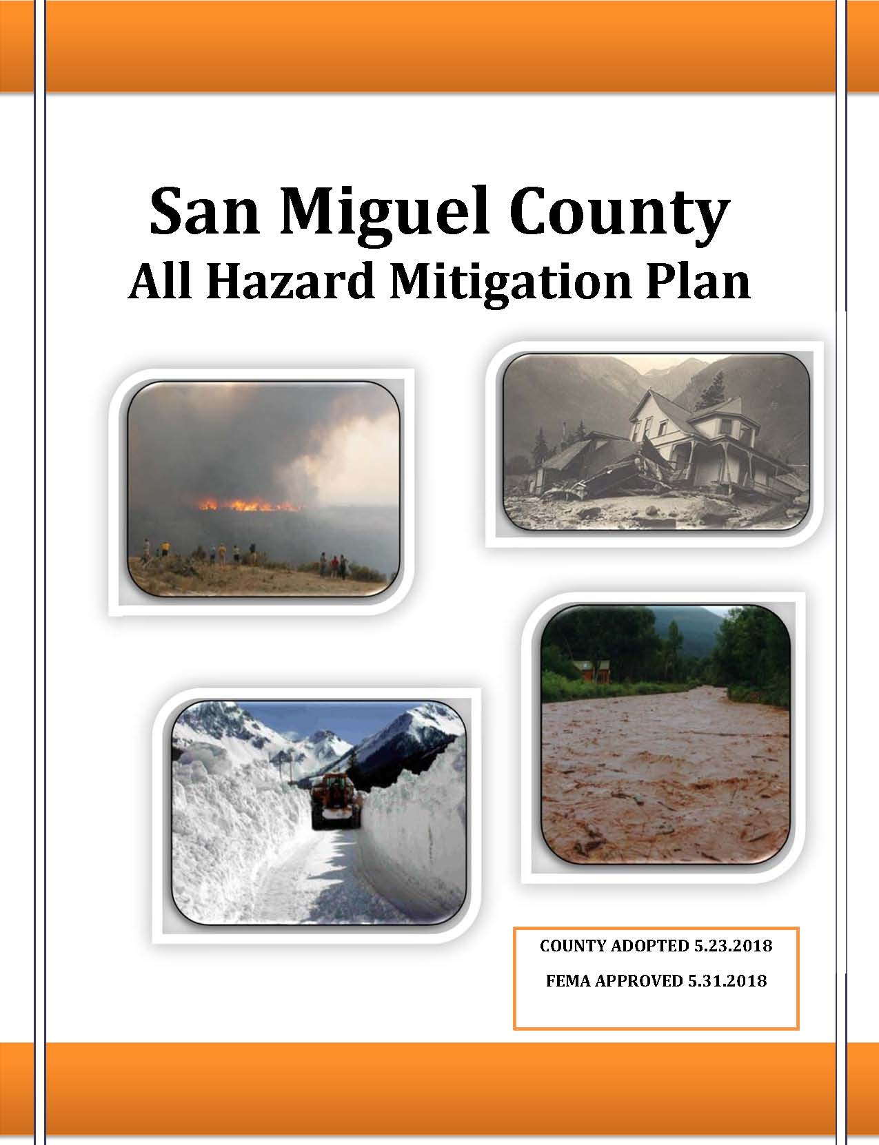 San Miguel County AHMP Cover Page