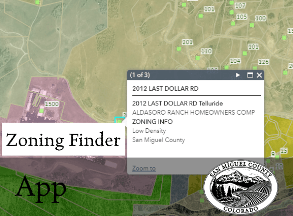 thumbnail of zoning finder application