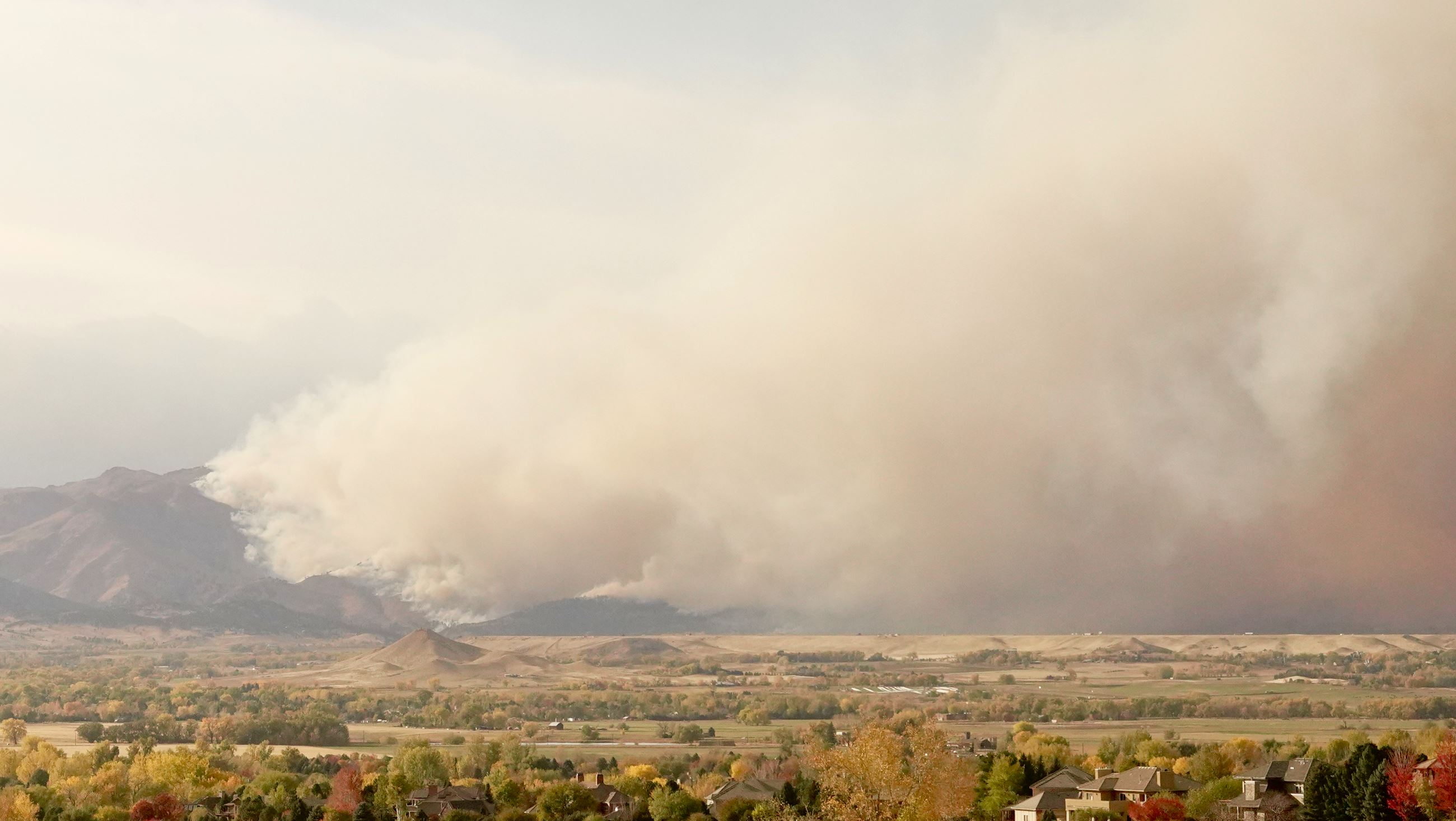 Wildfire photo courtesy of Boulder County