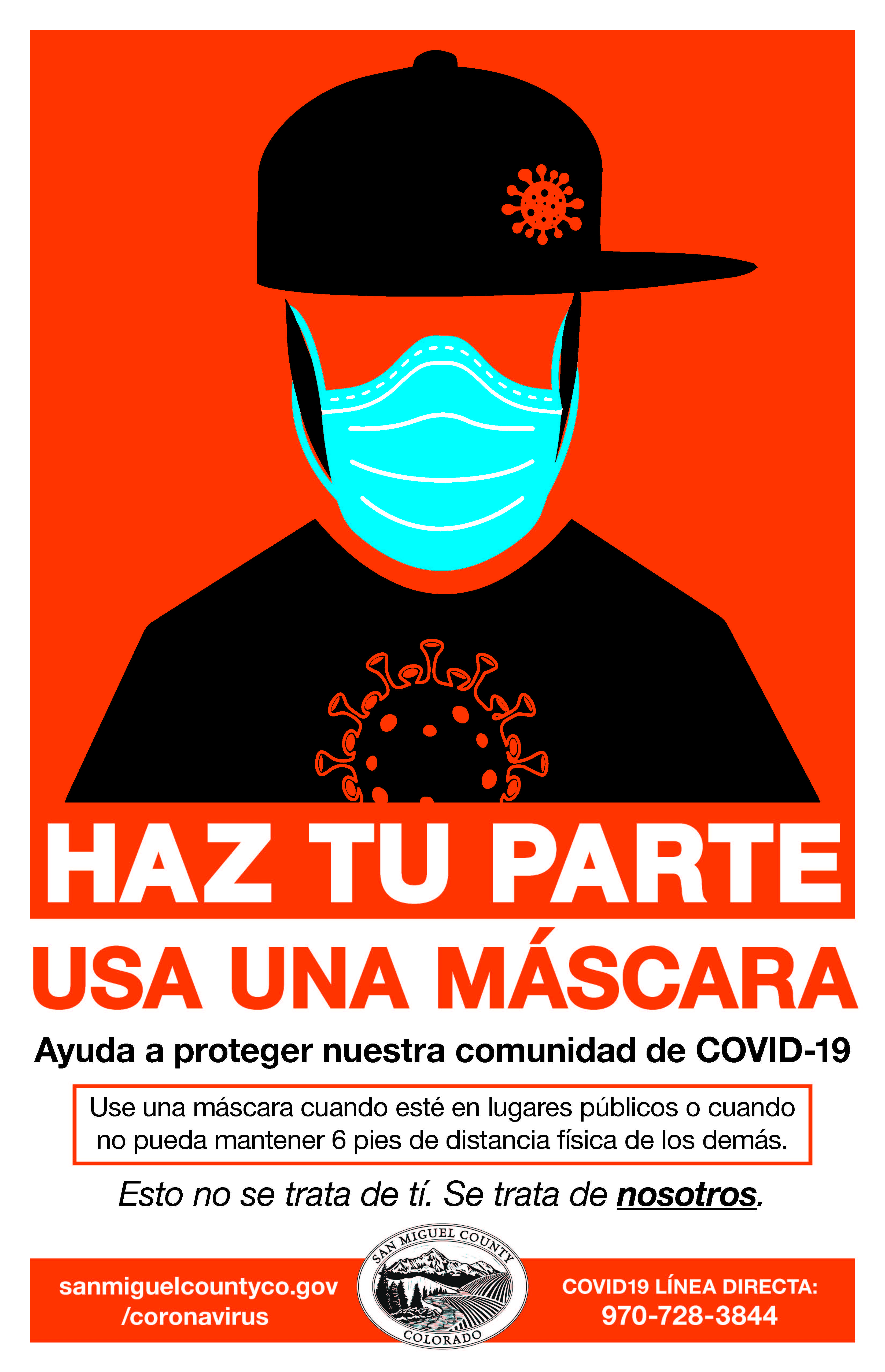 SMC hipster mask poster in Spanish Opens in new window