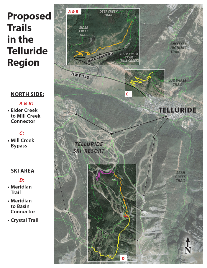 map of proposed Telluride trails